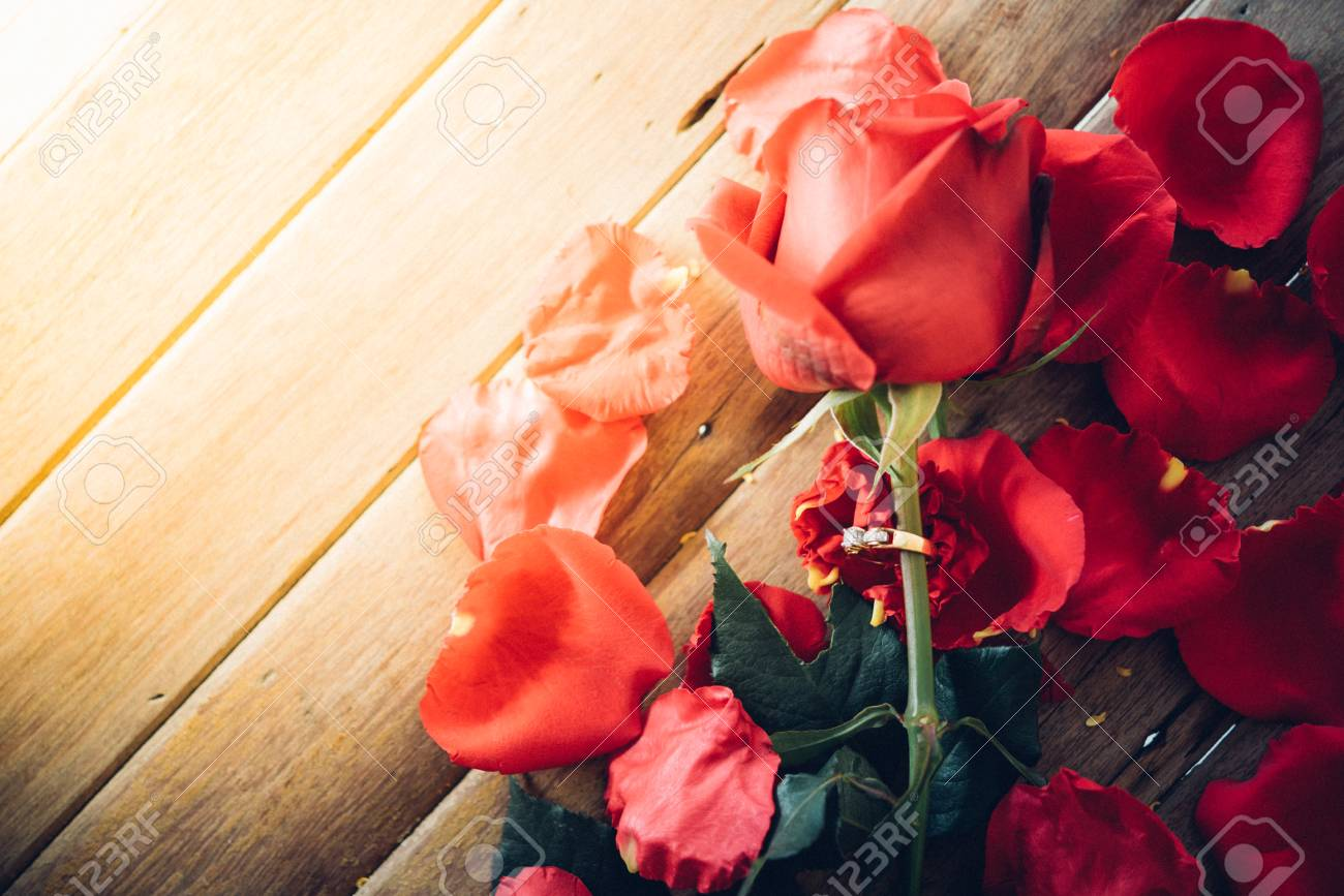Red rose flower nature beautiful flowers from garden petal of red banque dimages red rose flower nature beautiful flowers from garden petal of red rose flower and diamond ring for valentines or marriage on wooden floor izmirmasajfo
