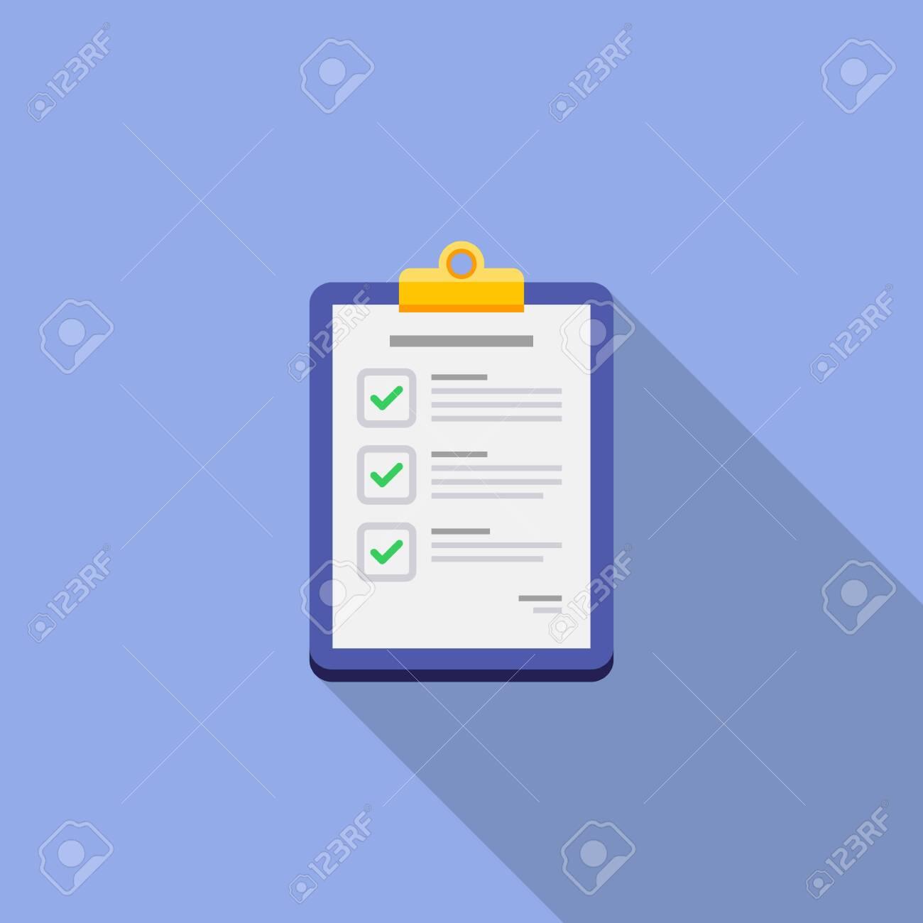 Checklist icon vector isolated. - 152715340