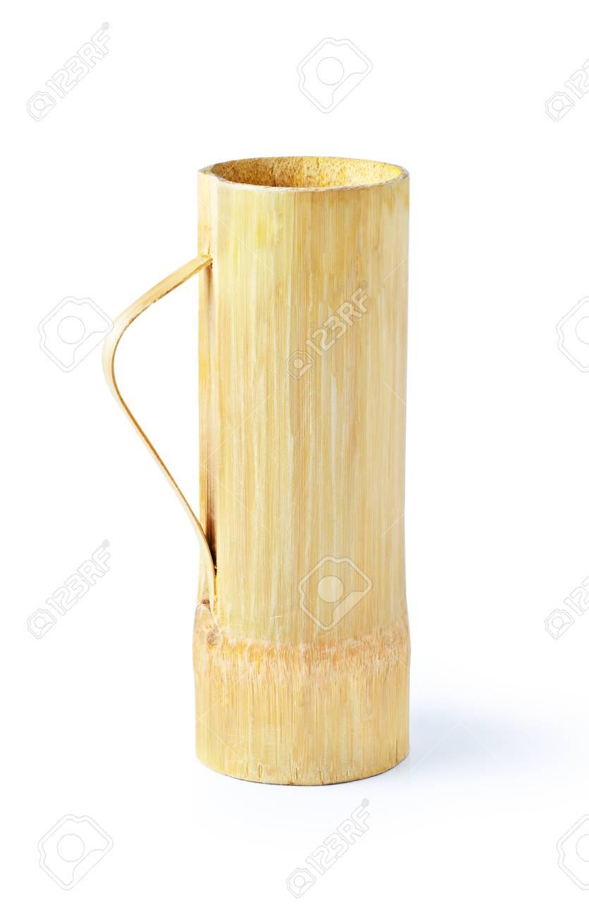 Bamboo Glas Auf Weißem Hintergrund Lizenzfreie Fotos, Bilder Und ...