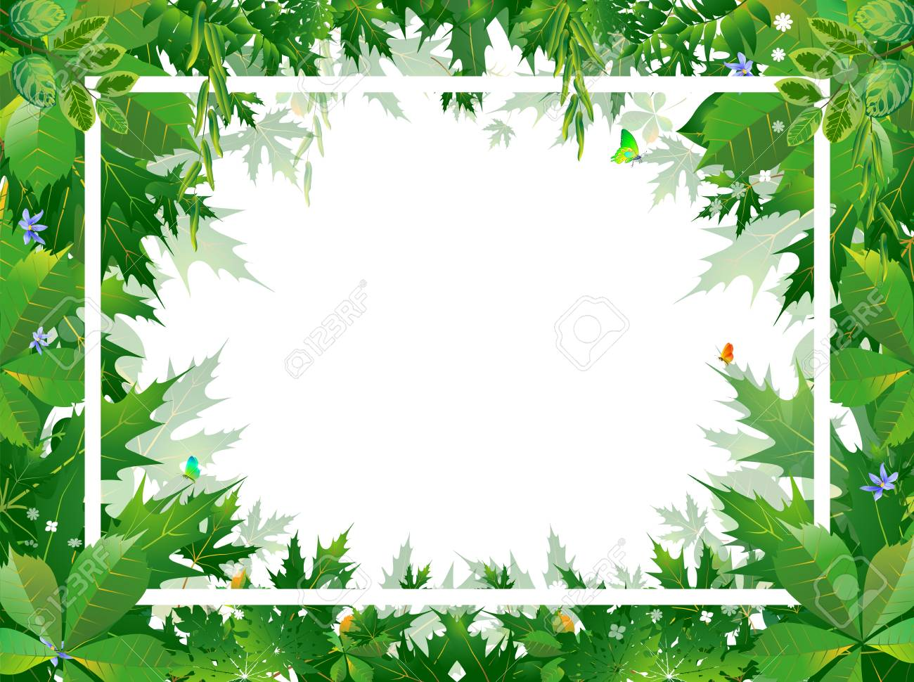 bright tropical background with jungle plants exotic pattern