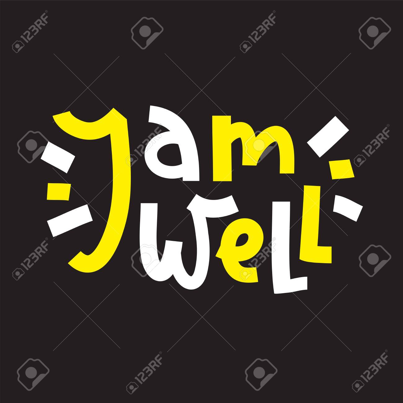 I am well - inspire motivational quote. Hand drawn beautiful lettering. Print for inspirational poster, t-shirt, bag, cups, card, flyer, sticker, badge. Cute funny vector writing - 143676410