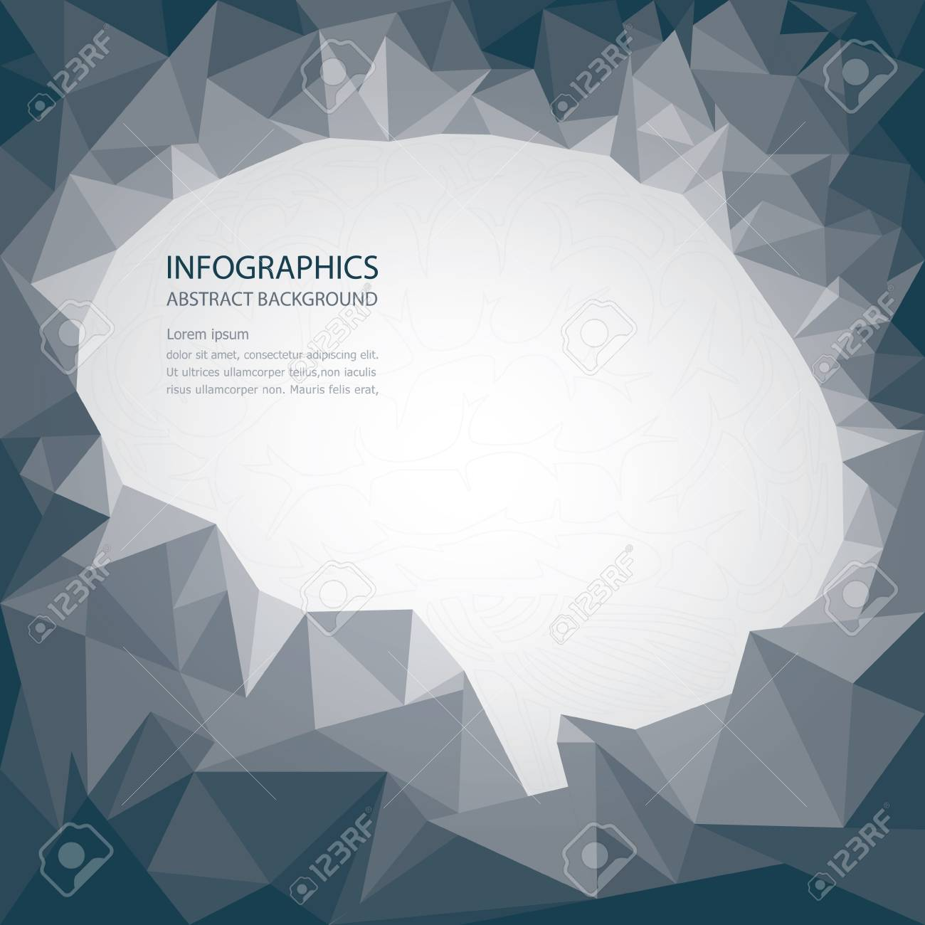 Brain Shape Abstract Background Stock Vector - 22023116