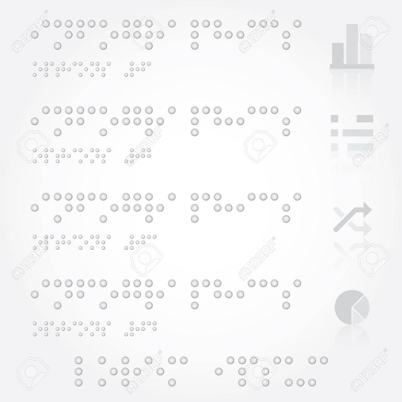 Braille Infographics Design Template Stock Vector - 22174643