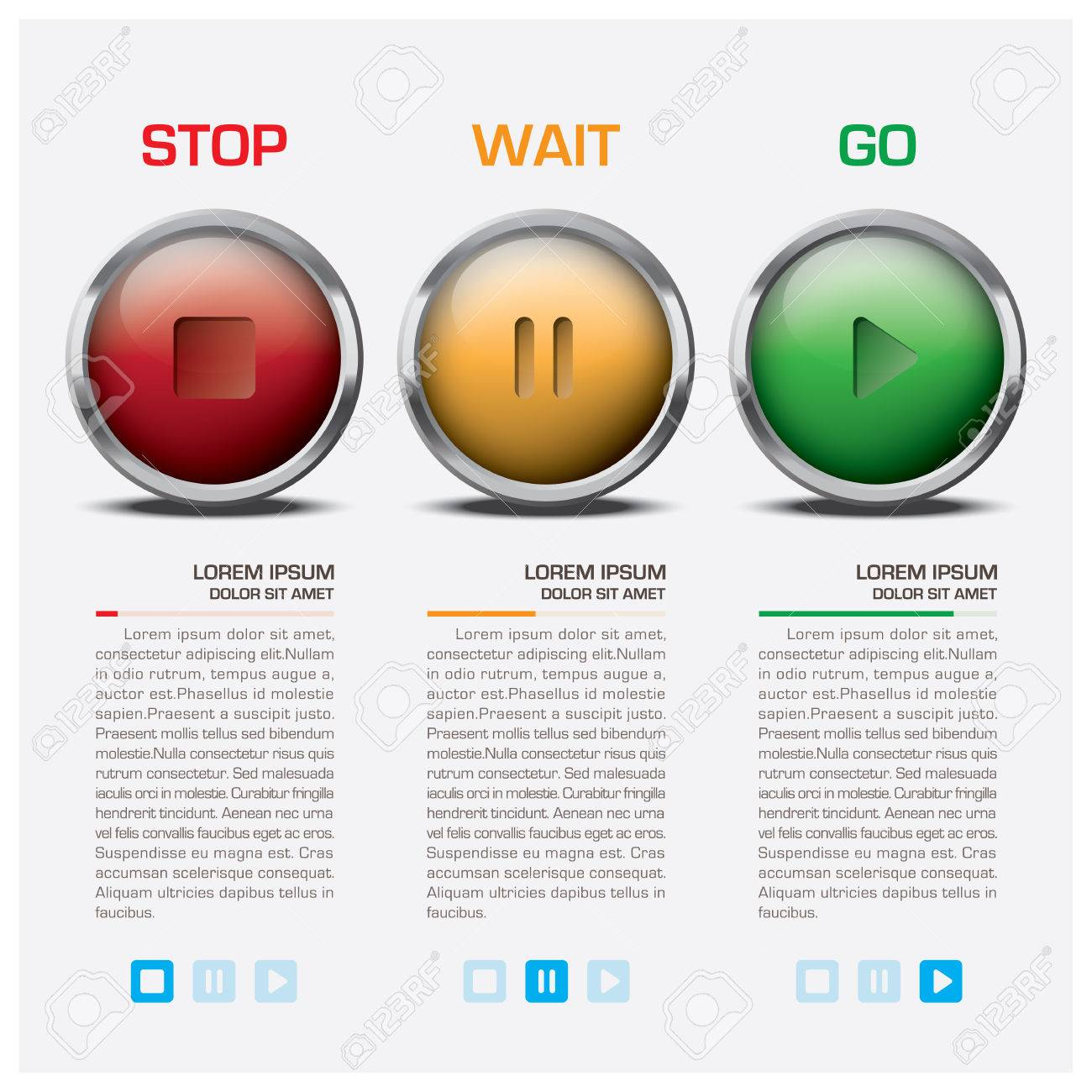 traffic light sign infographic vector design template royalty free