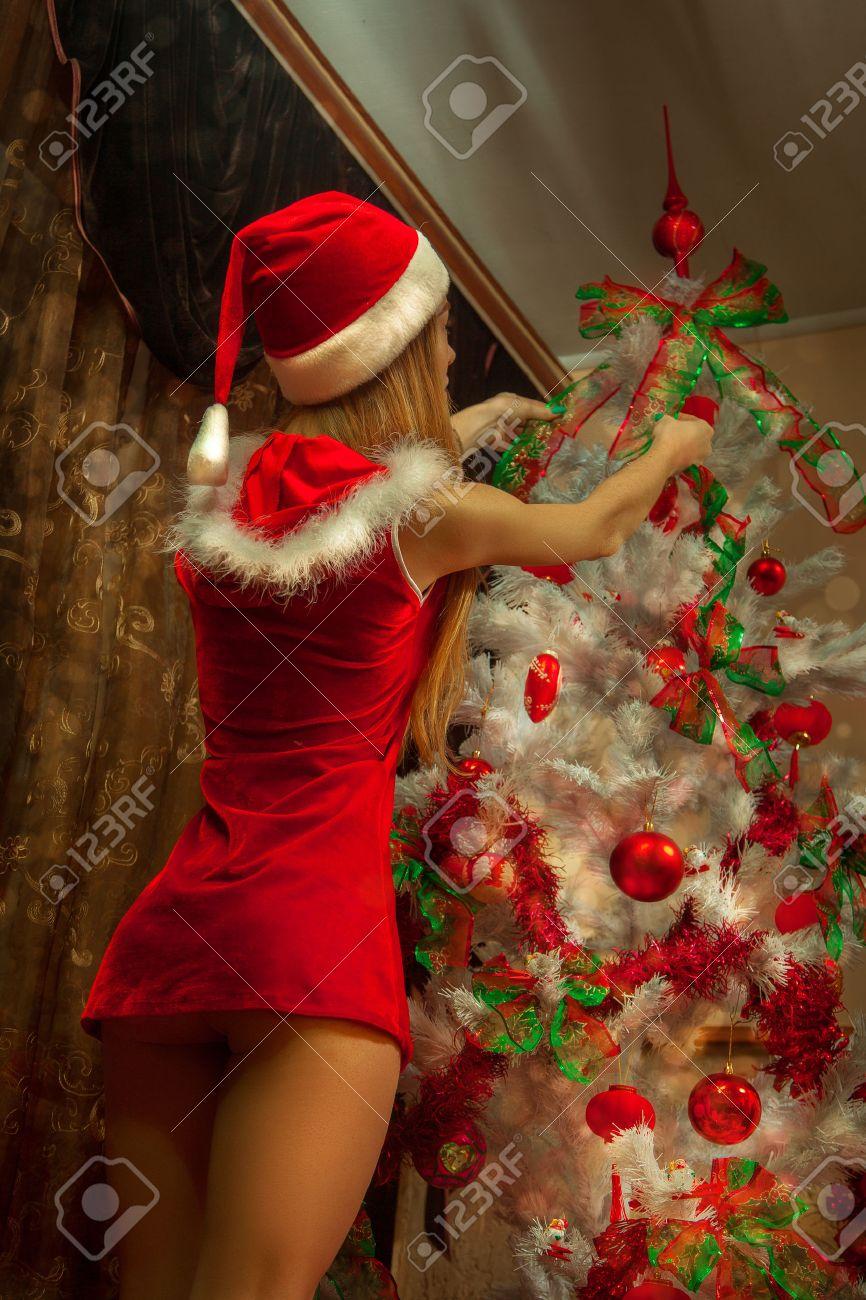 Wer Schmückt Den Weihnachtsbaum.Stock Photo