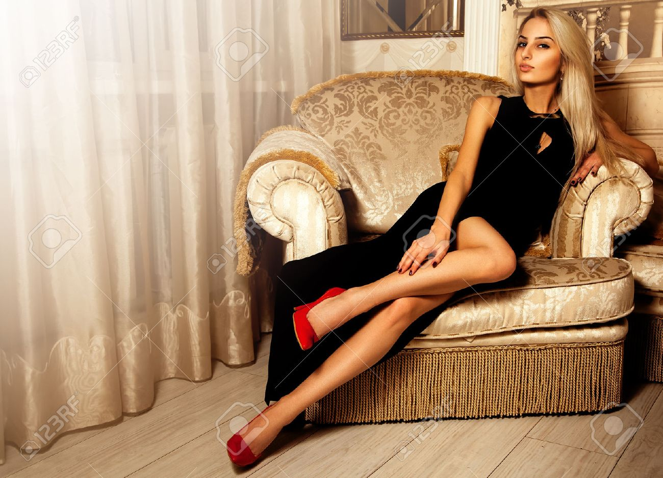Hot blonde and luxury