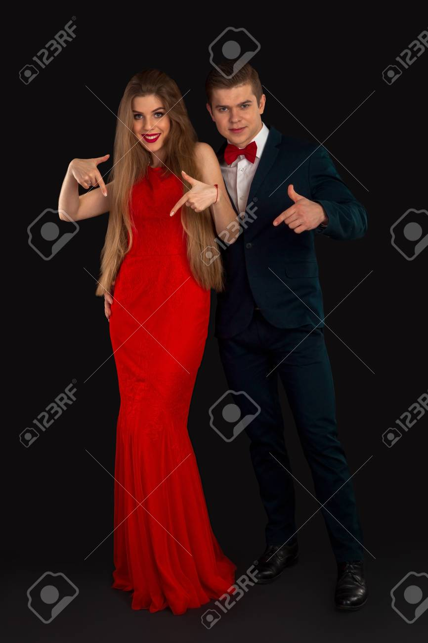 Mujer del vestido rojo