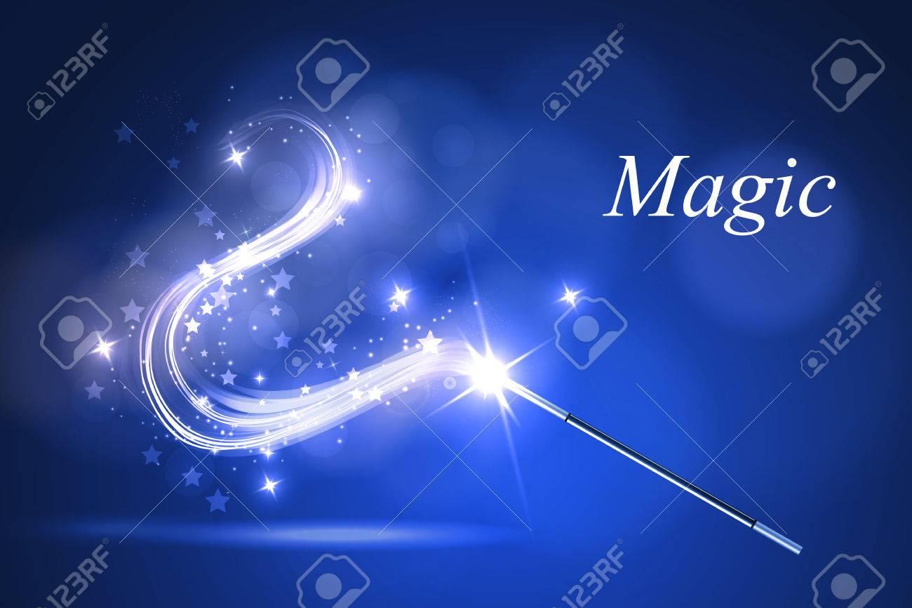 Vector illustration kolorful magic wand. - 51946848