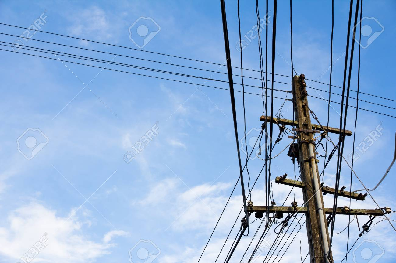 electricity post Stock Photo - 11385318