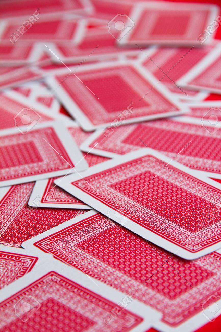 playing cards background Stock Photo - 12601238