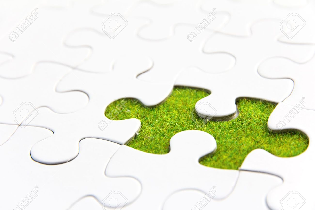 missing puzzle piece, green space concept - 17750155