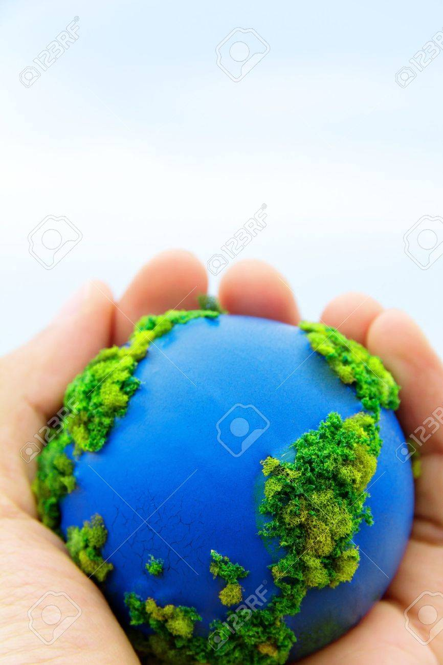 Earth in Hands ,Concept Save green planet - 19022755