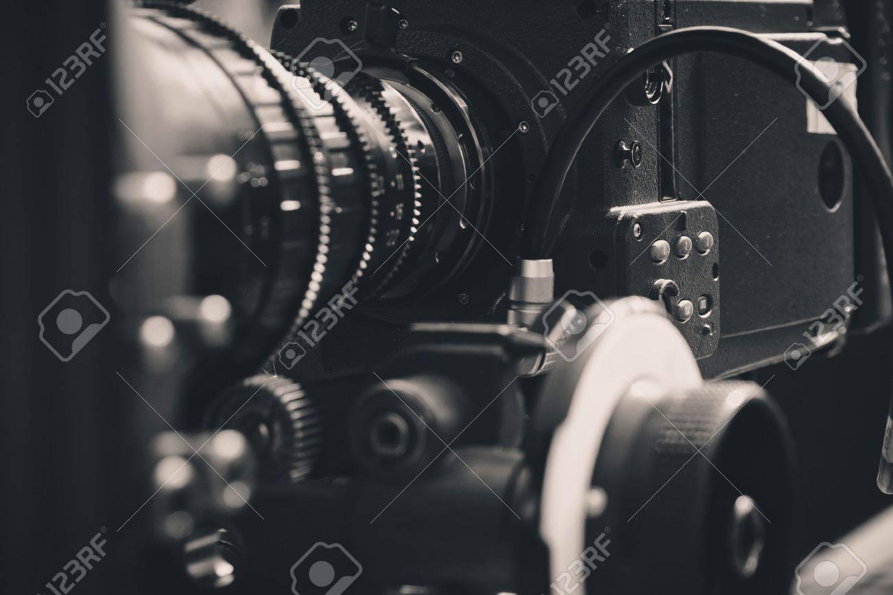 close up of Professional digital video camera - 27117742