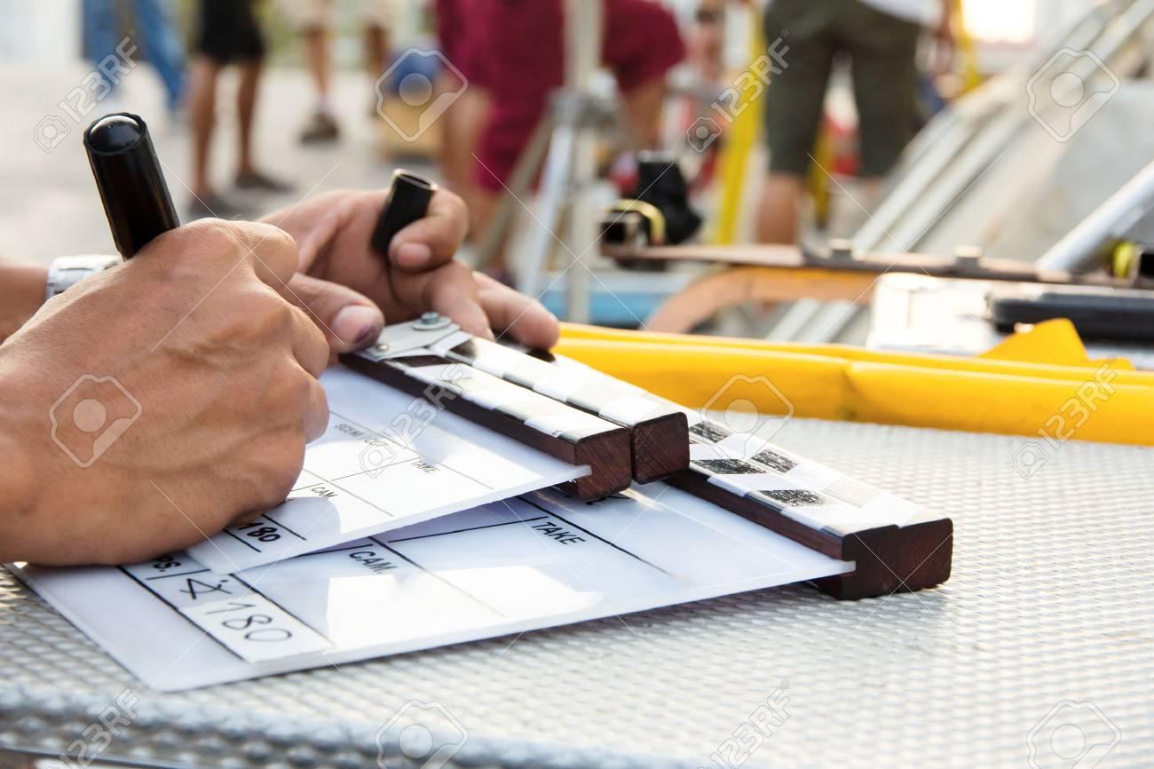Labeling the Slate on set - 27545662