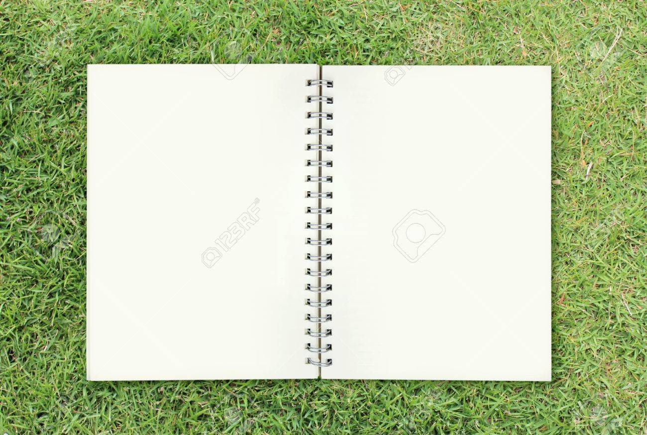open book on grass Stock Photo - 10930212