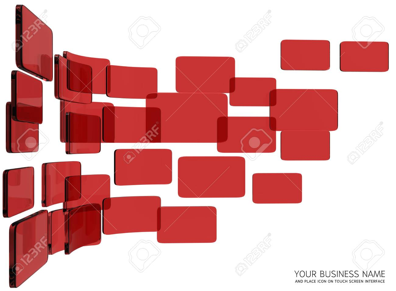 touch screen interface Red glass Stock Photo - 11422925