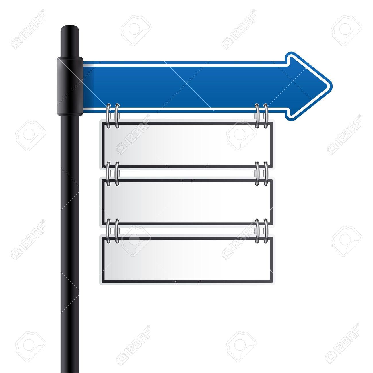 traffic sign blue color - 11842224