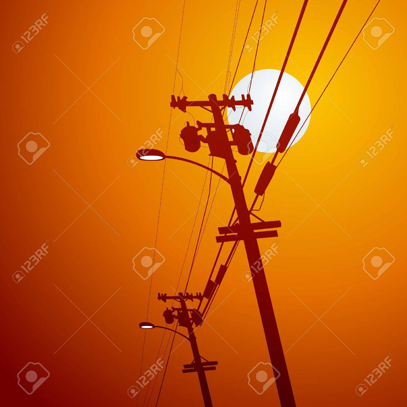 Electricity post vector - 12497788