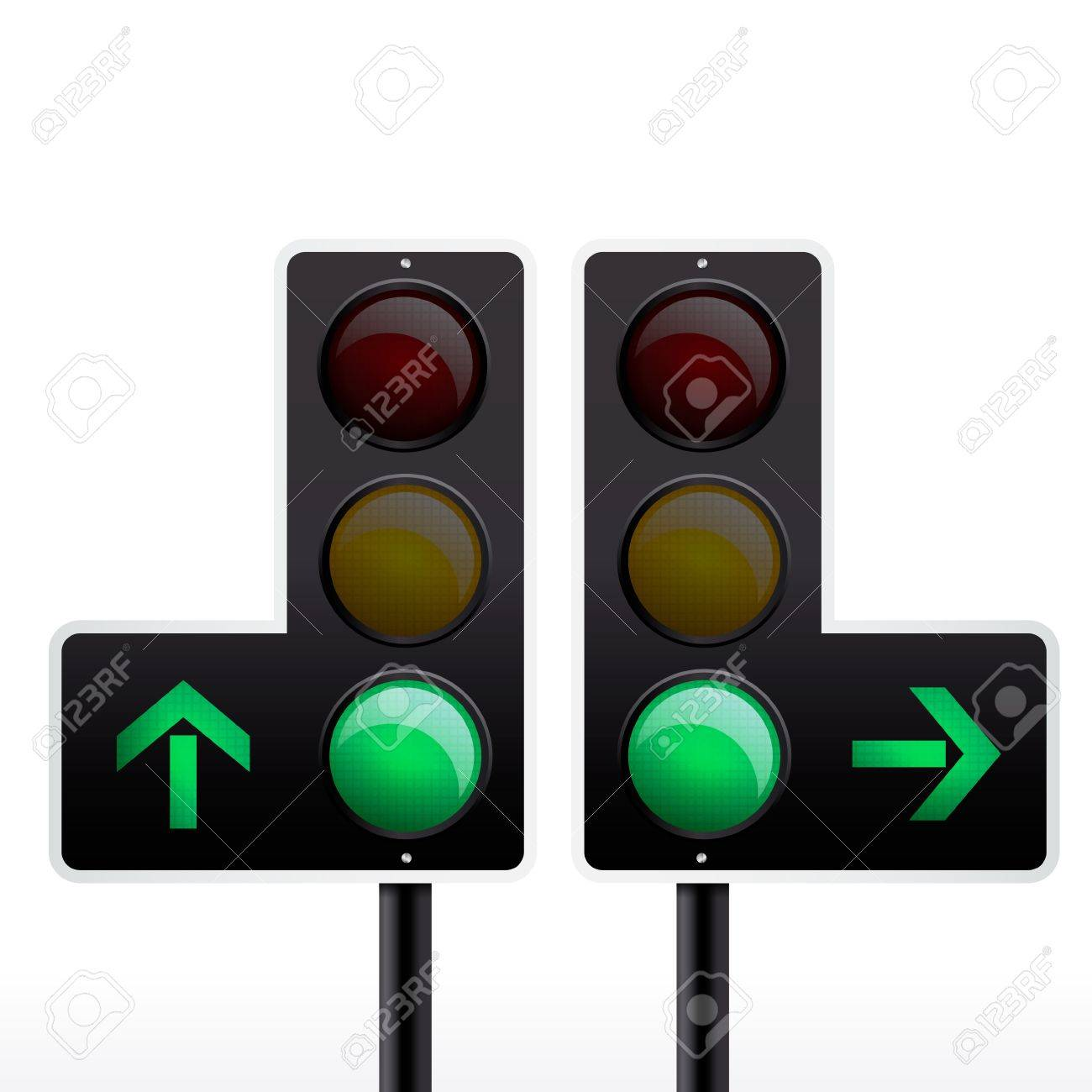 Isolated traffic light vector Stock Vector - 12497792