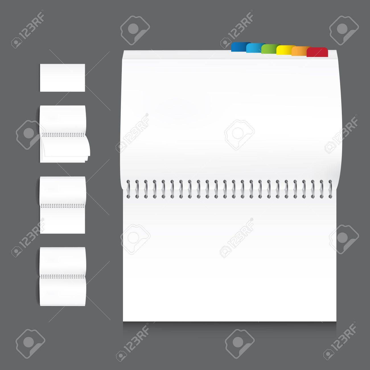 collection of book blank white paper on white background Stock Vector - 13405701