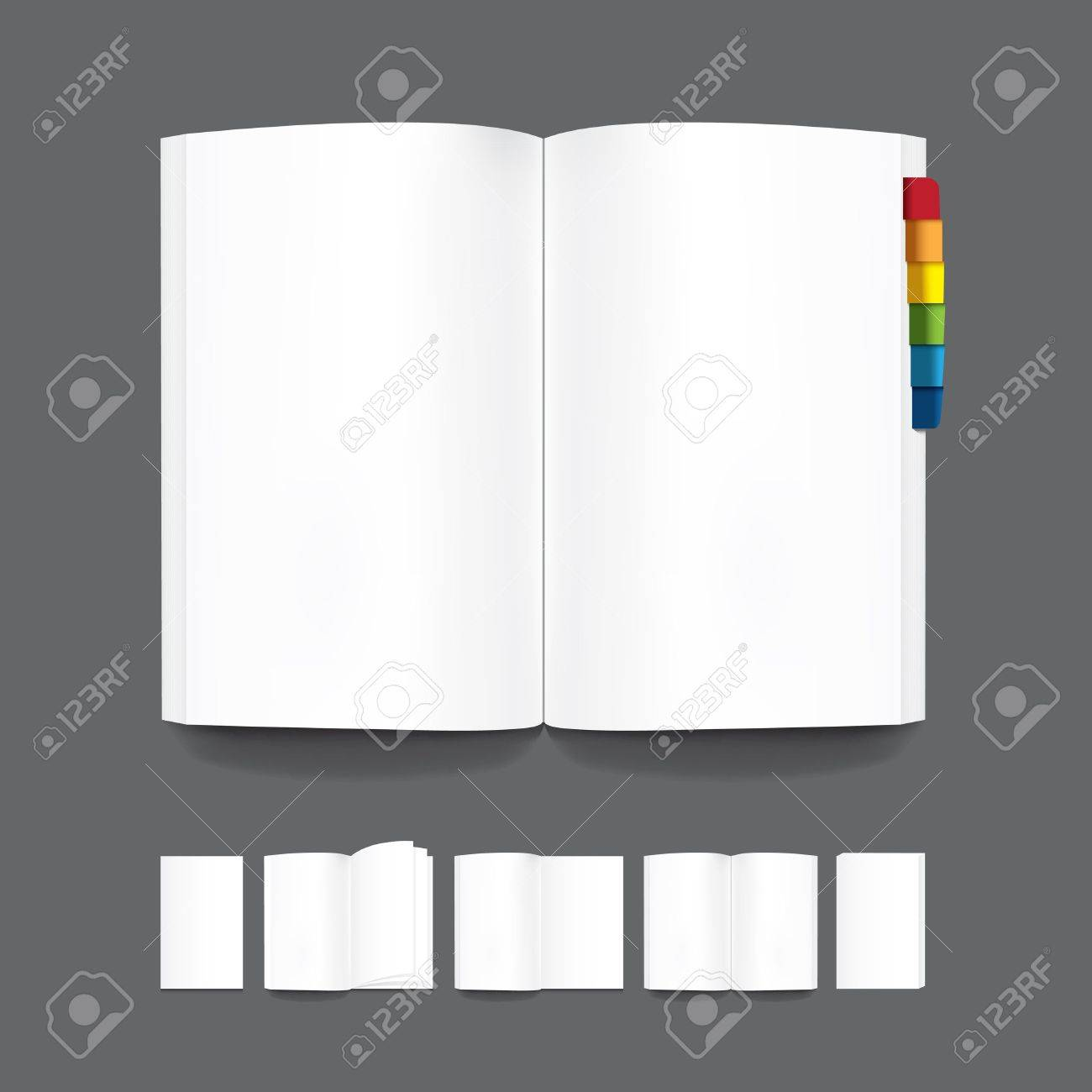Book Blank Page Template For Design Vector Royalty Free Cliparts ...