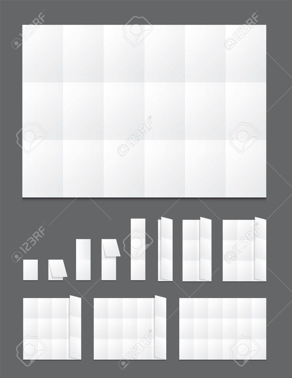 Blank  folding paper flyer Stock Vector - 14299088