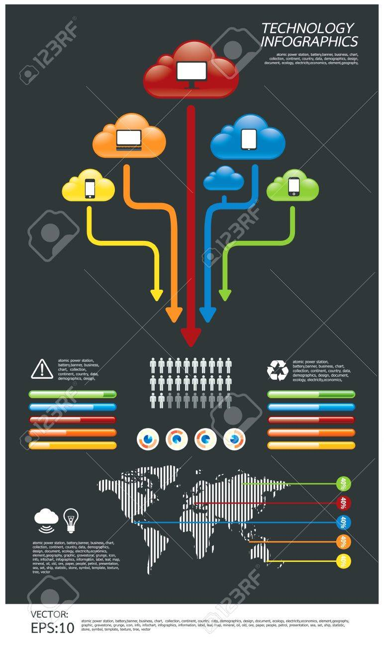 infographic  technology computer Stock Vector - 14616337