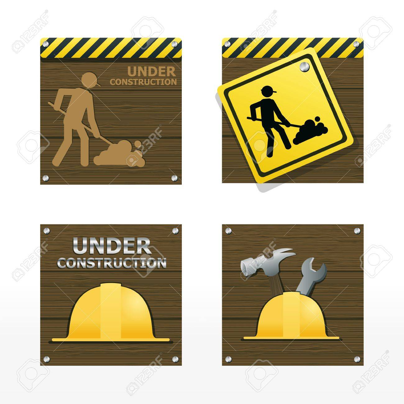beware traffic sign on wood background vector Stock Vector - 14763500