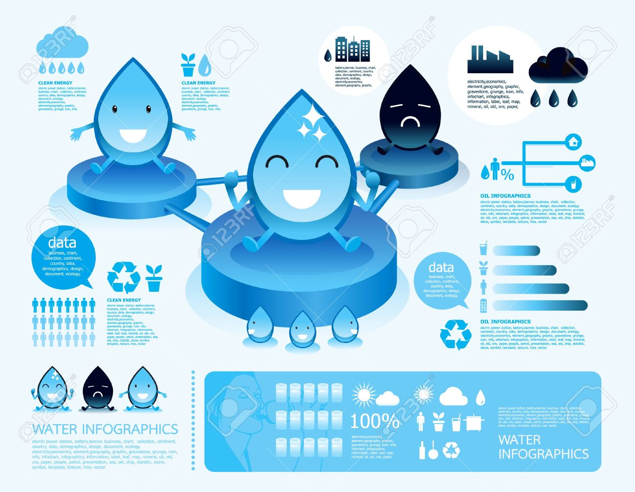 infographic  water reverse osmosis.cartoon style with eco icons Stock Vector - 14924680
