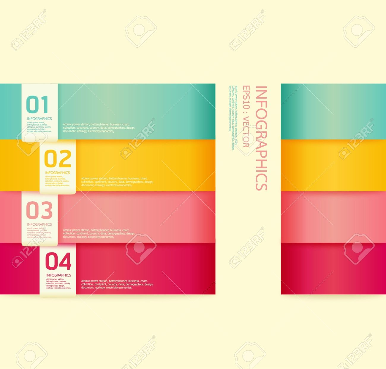 Website soft colors - Modern Soft Color Design Template Can Be Used For Infographics Numbered Banners Horizontal Cutout Lines Graphic
