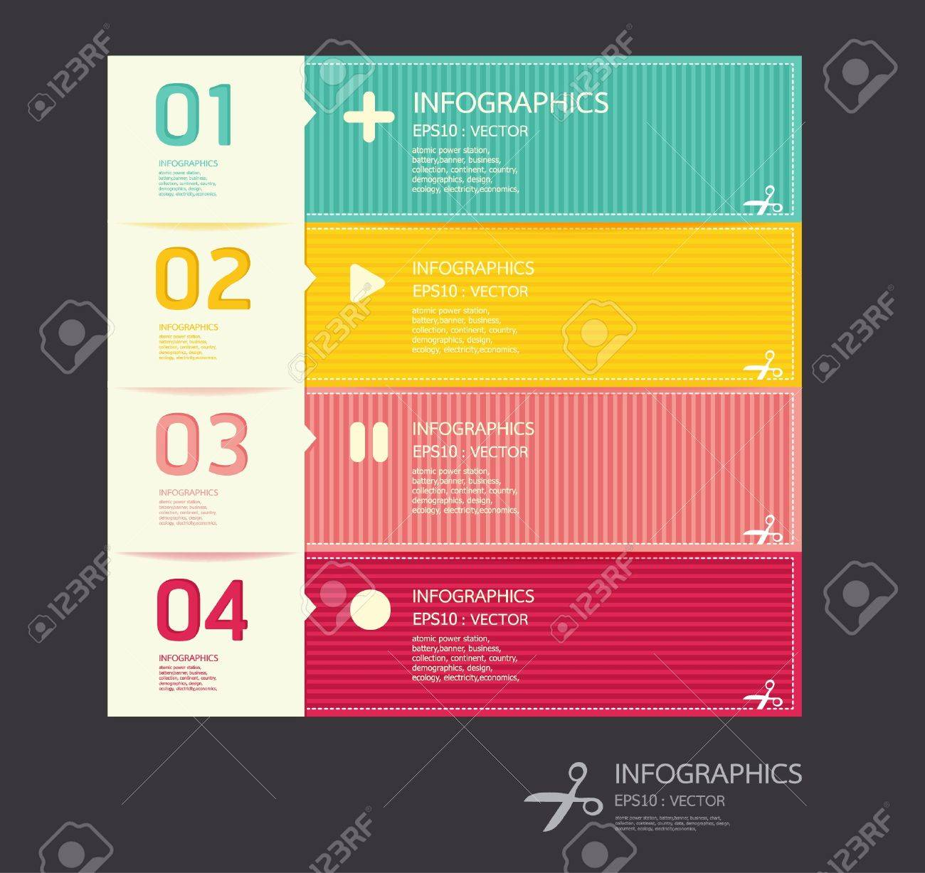 Modern colors web design - Colors Used In Website Modern Soft Color Design Template Can Be Used For Infographics Numbered