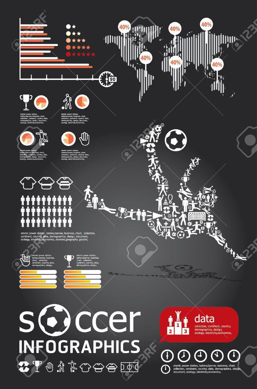 socker infographic vector Stock Vector - 15306780