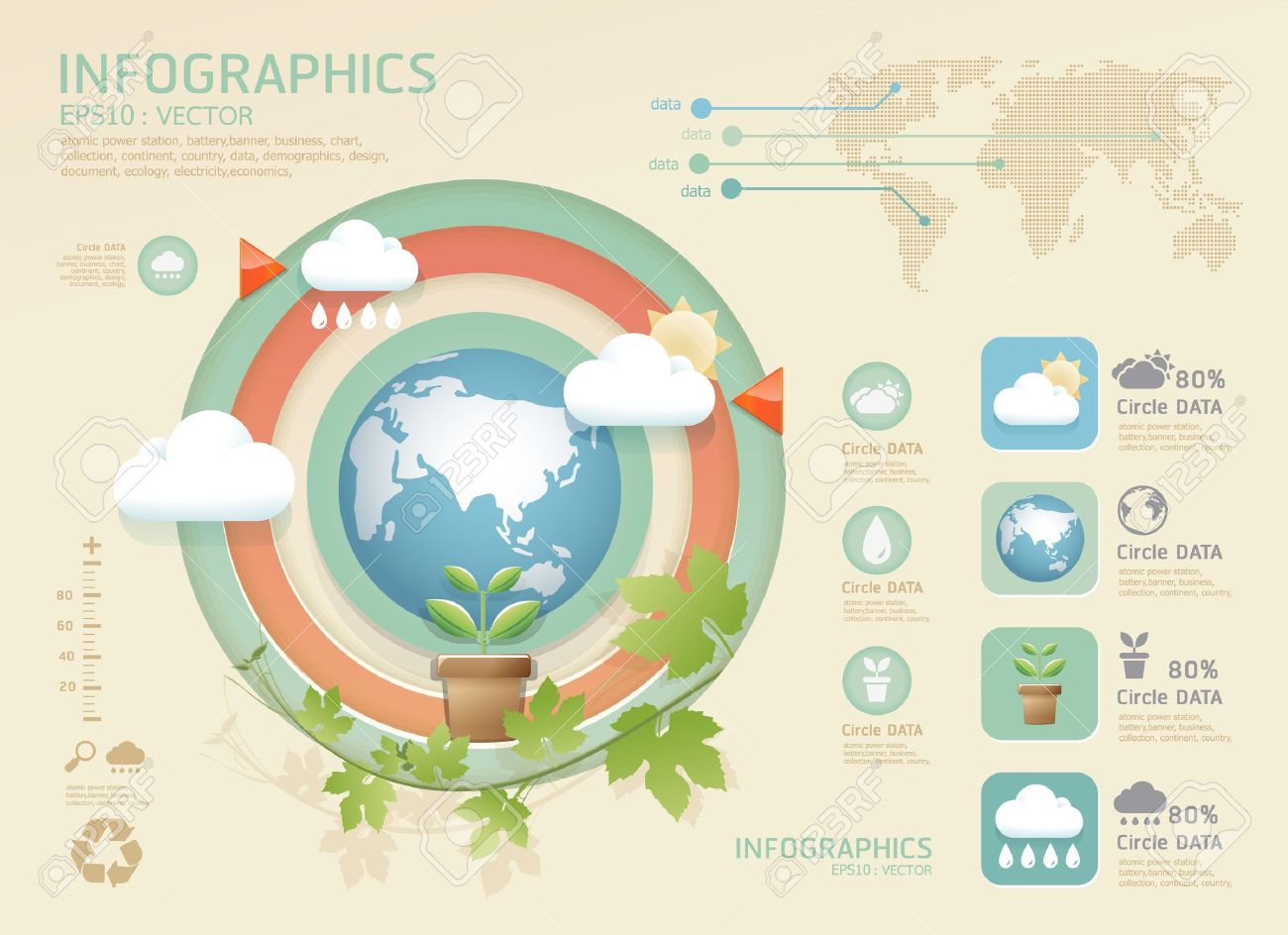 Website soft colors - Vector Infographic Eco Modern Soft Color Design Template Can Be Used For Infographics Numbered Banners Graphic Or Website Layout Vector