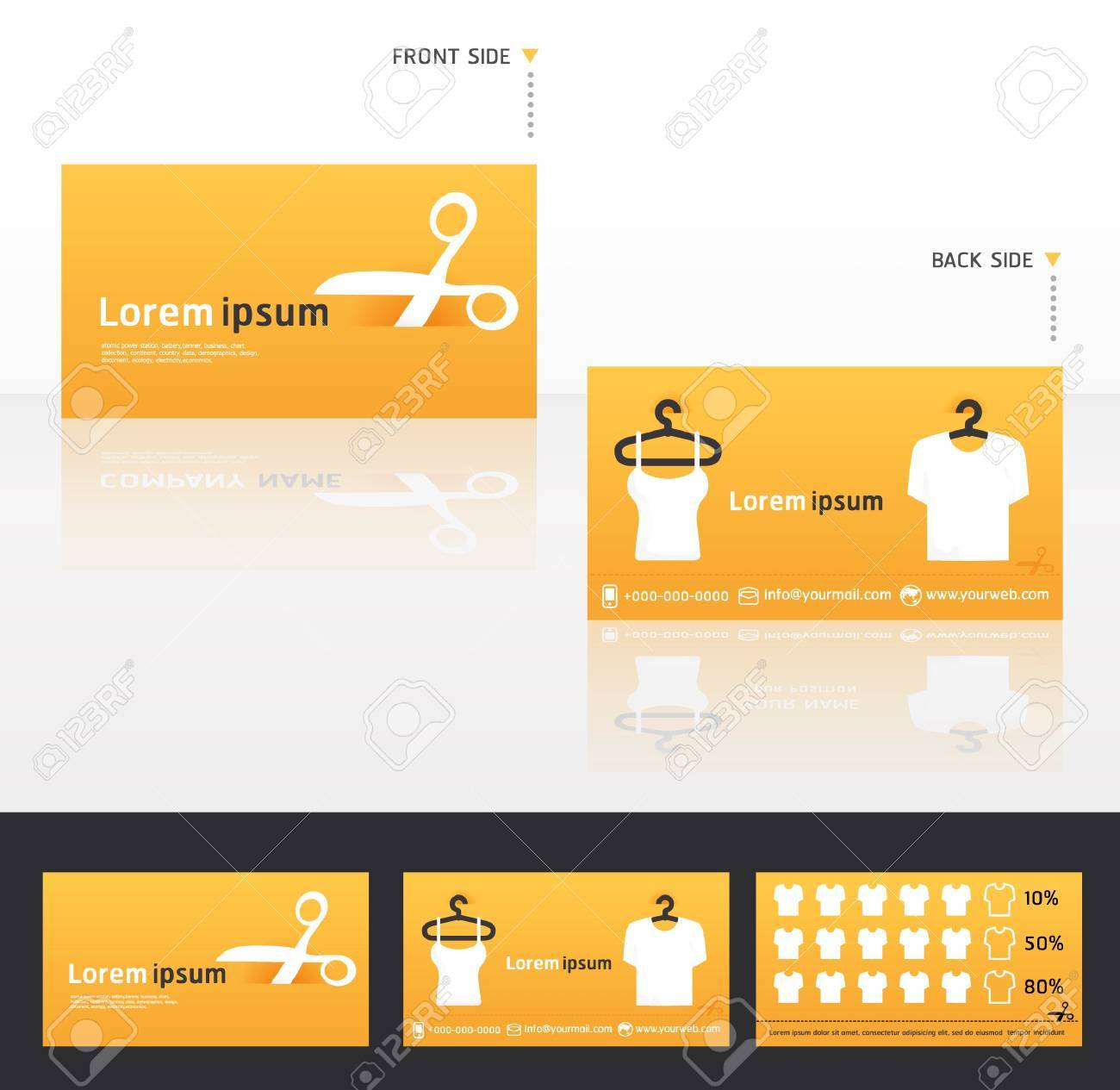 Clothes Business Cards, Discount And Promotional Cards Royalty Free ...