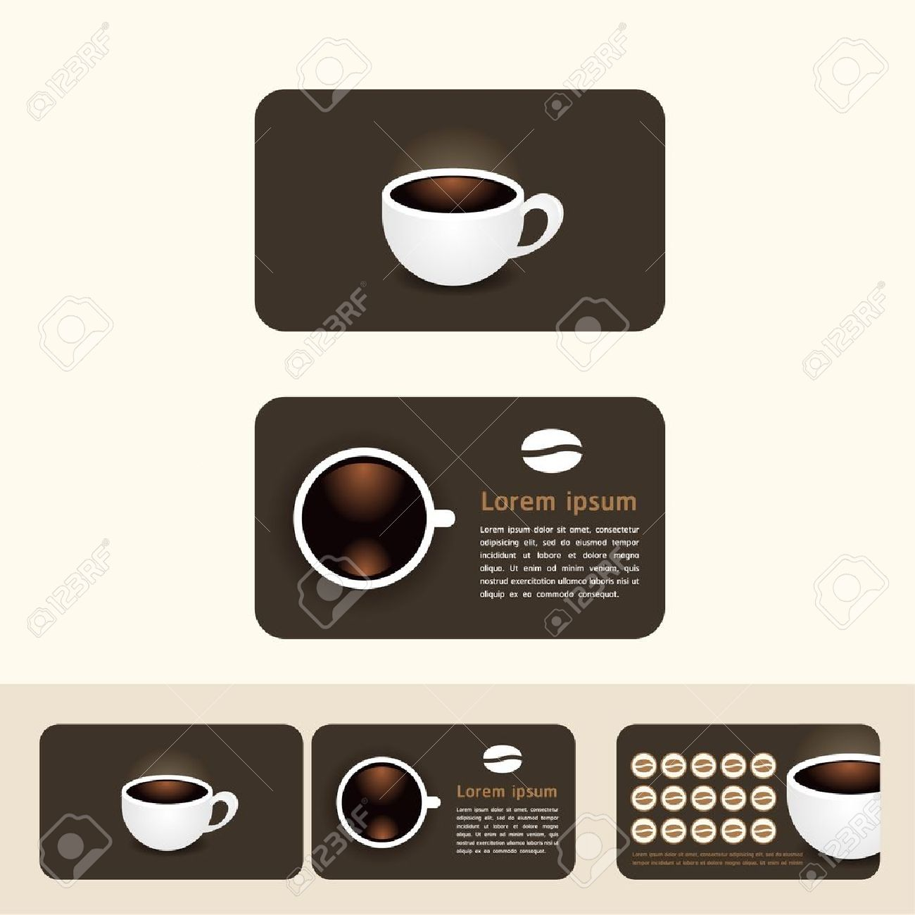 Coffee Business Cards, Discount And Promotional Cards Royalty Free ...
