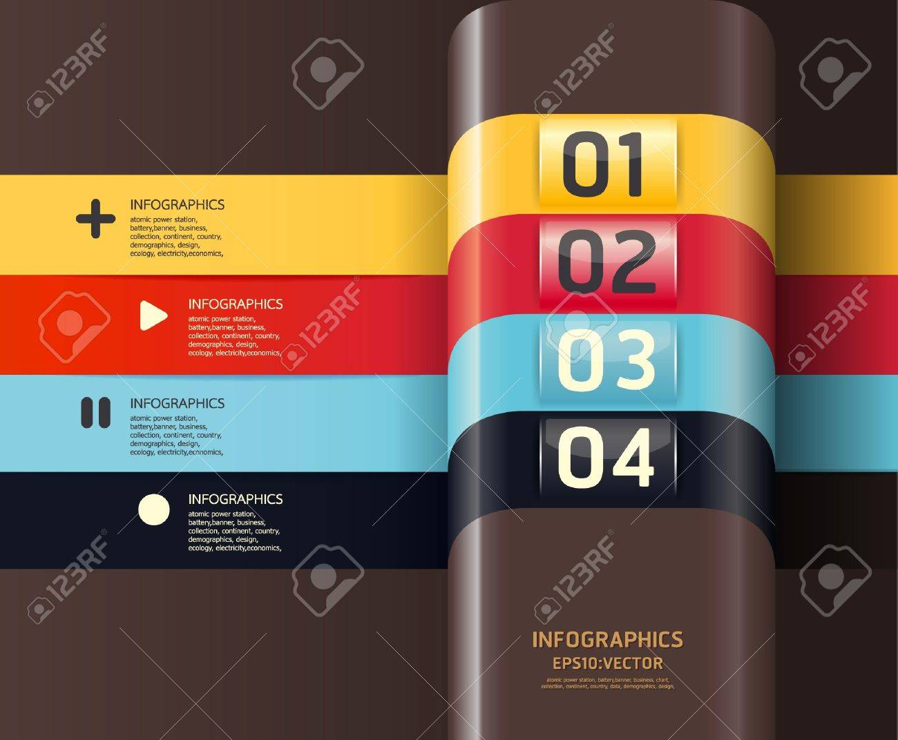 Modern Design template  / can be used for infographics / numbered banners / horizontal cutout lines / graphic or website layout Stock Vector - 16080519