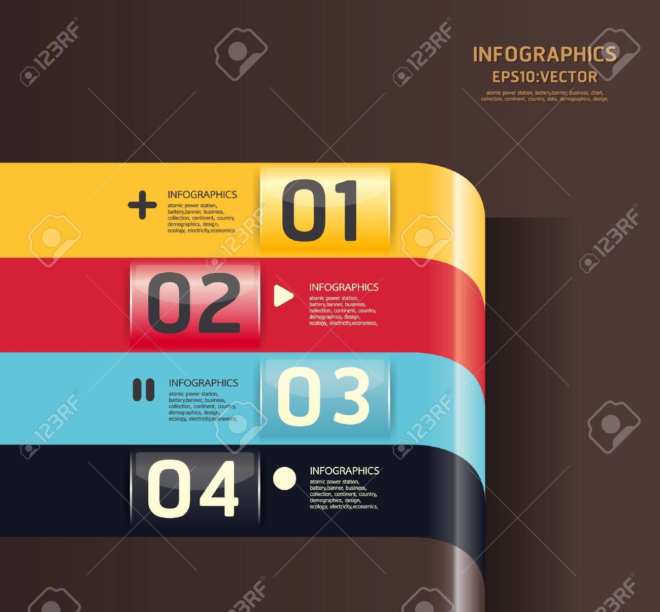 Modern Design template  / can be used for infographics / numbered banners / horizontal cutout lines / graphic or website layout Stock Vector - 16080409