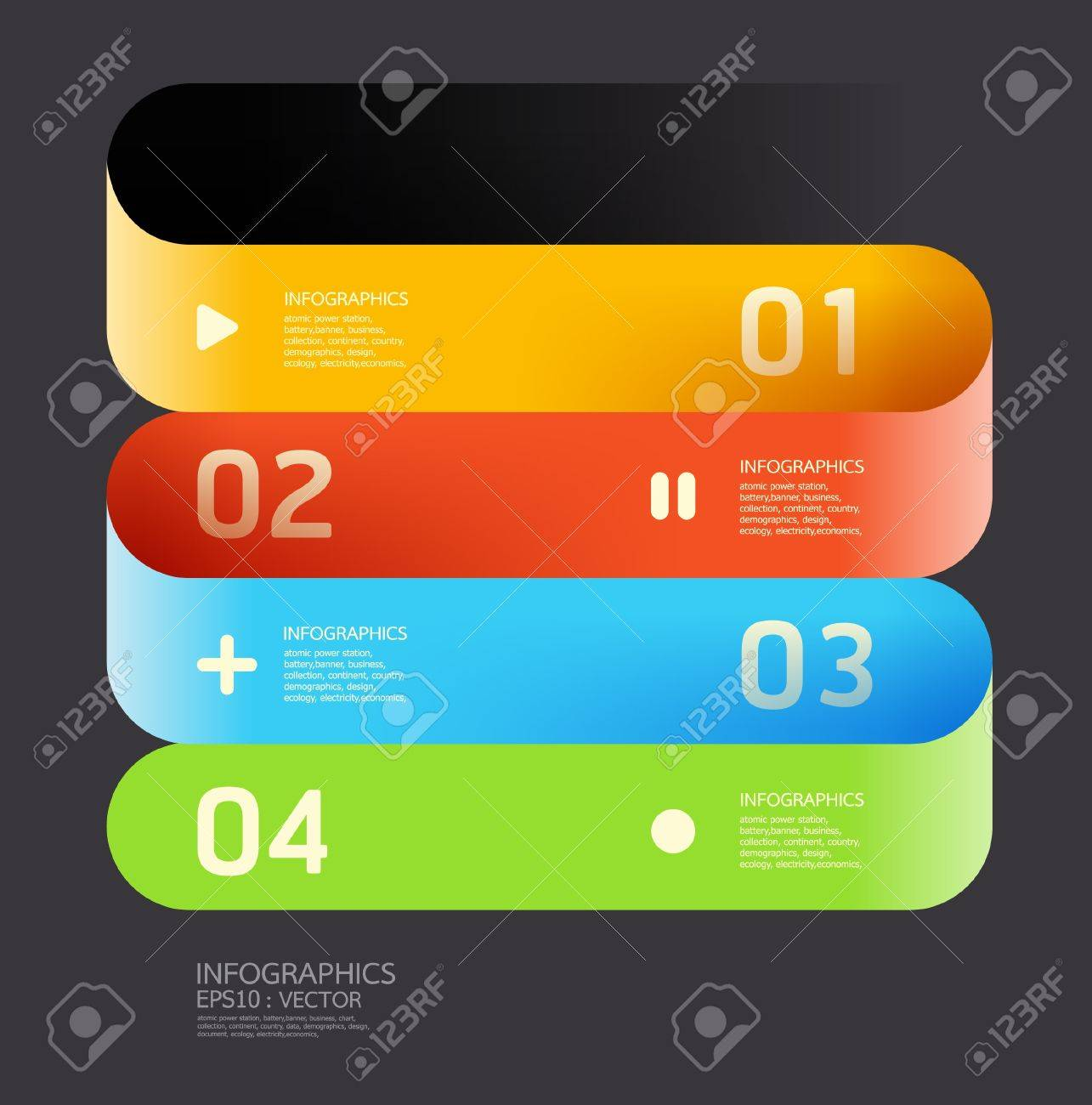 Modern  Curve color Design template can be used for infographics numbered banners horizontal cutout lines   graphic or website layout Stock Vector - 16080404