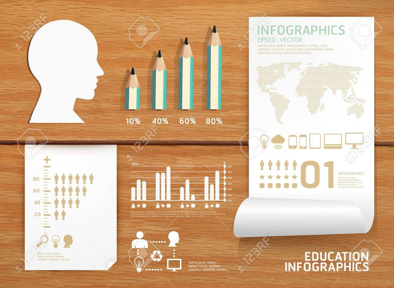 infographics set and Information education concept  can be used for infographics   concept  illustration Stock Vector - 16748981