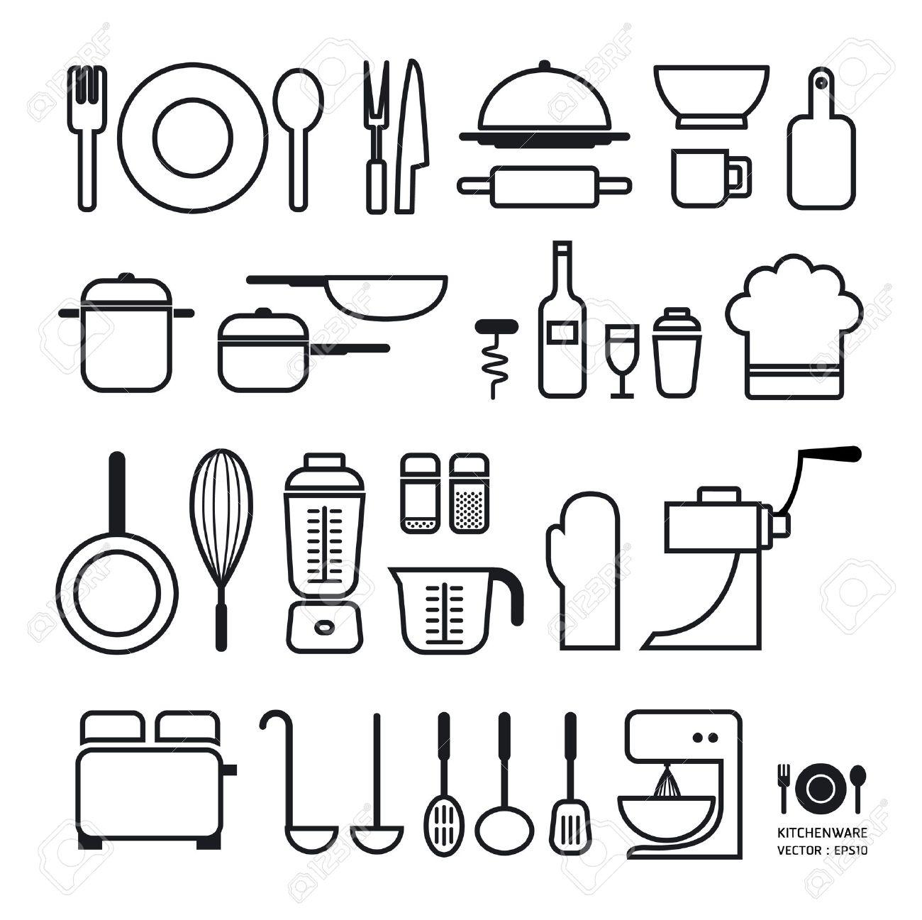 archivio fotografico strumento di cucina icone di raccolta pu essere utilizzato per infographics grafiche o disposizione orizzontale sito