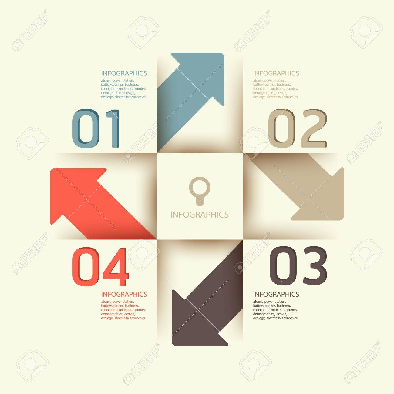 Modern Design template   can be used for infographics   numbered banners   horizontal cutout lines   graphic or website layout Stock Vector - 17439190