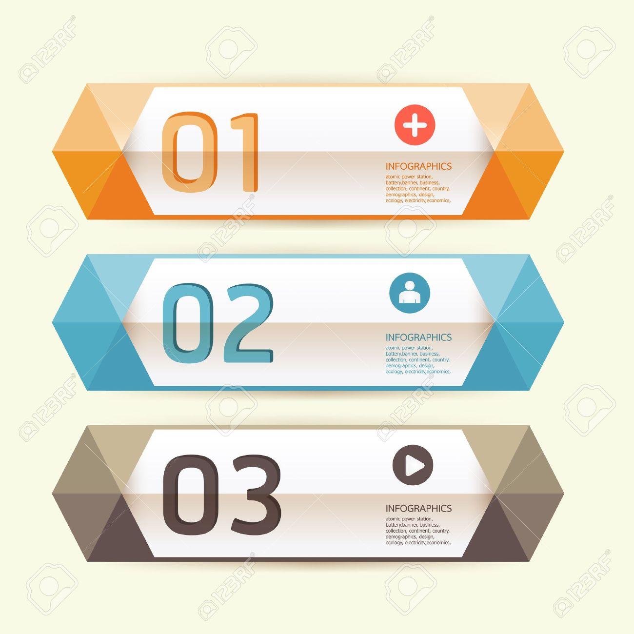 Modernes Design-Vorlage Kann Für Infografiken Nummerierten Banner ...