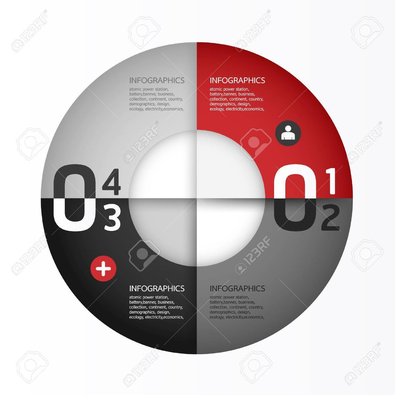 Modern Design template   can be used for infographics   numbered banners   horizontal cutout lines   graphic or website layout Stock Vector - 19583621