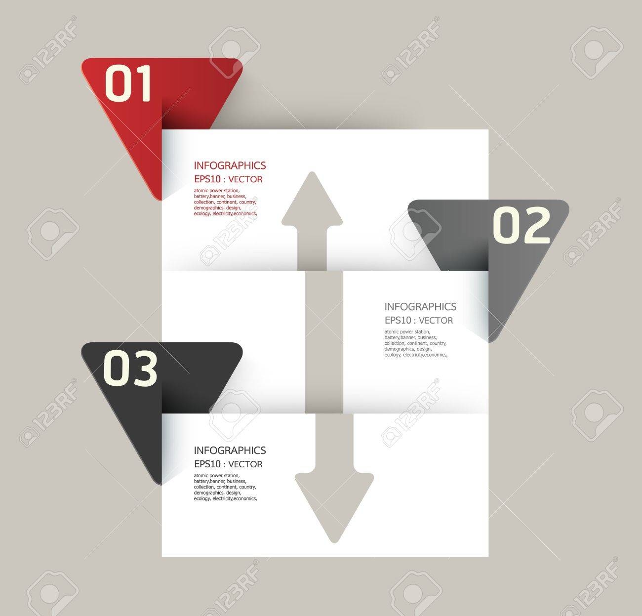 Modern Design template   can be used for infographics   numbered banners   horizontal cutout lines   graphic or website layout Stock Vector - 19583586