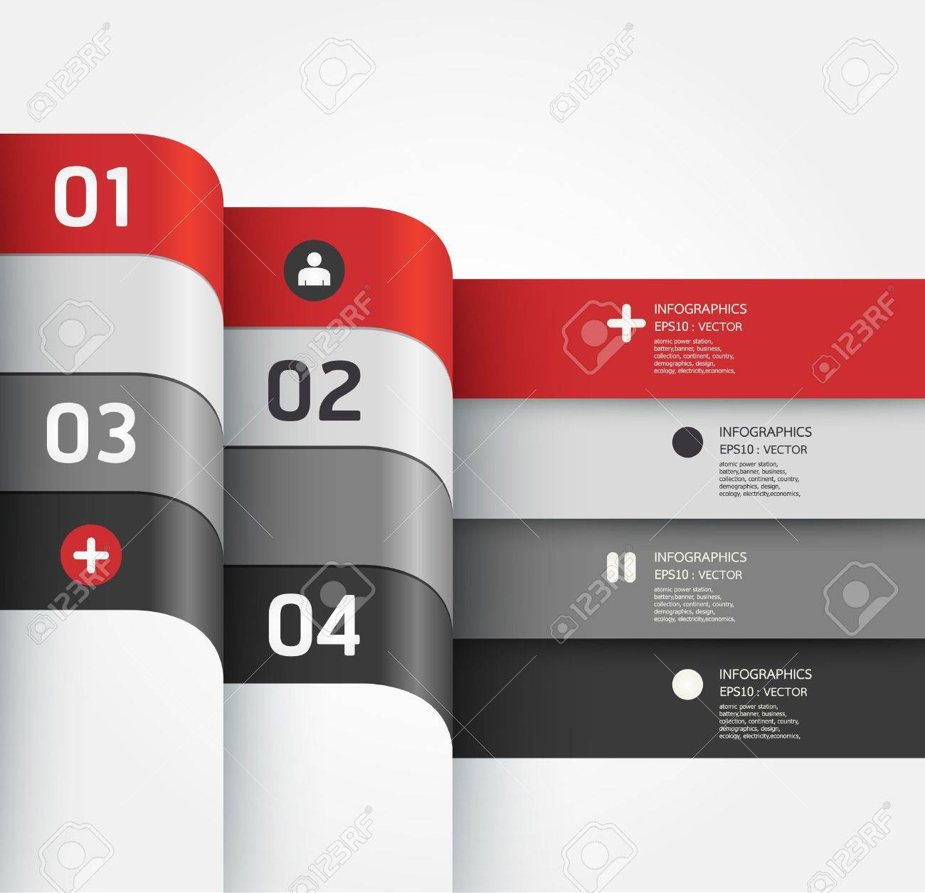 Modern Design template / can be used for infographics / numbered banners / horizontal cutout lines / graphic or website layout Stock Vector - 19583663