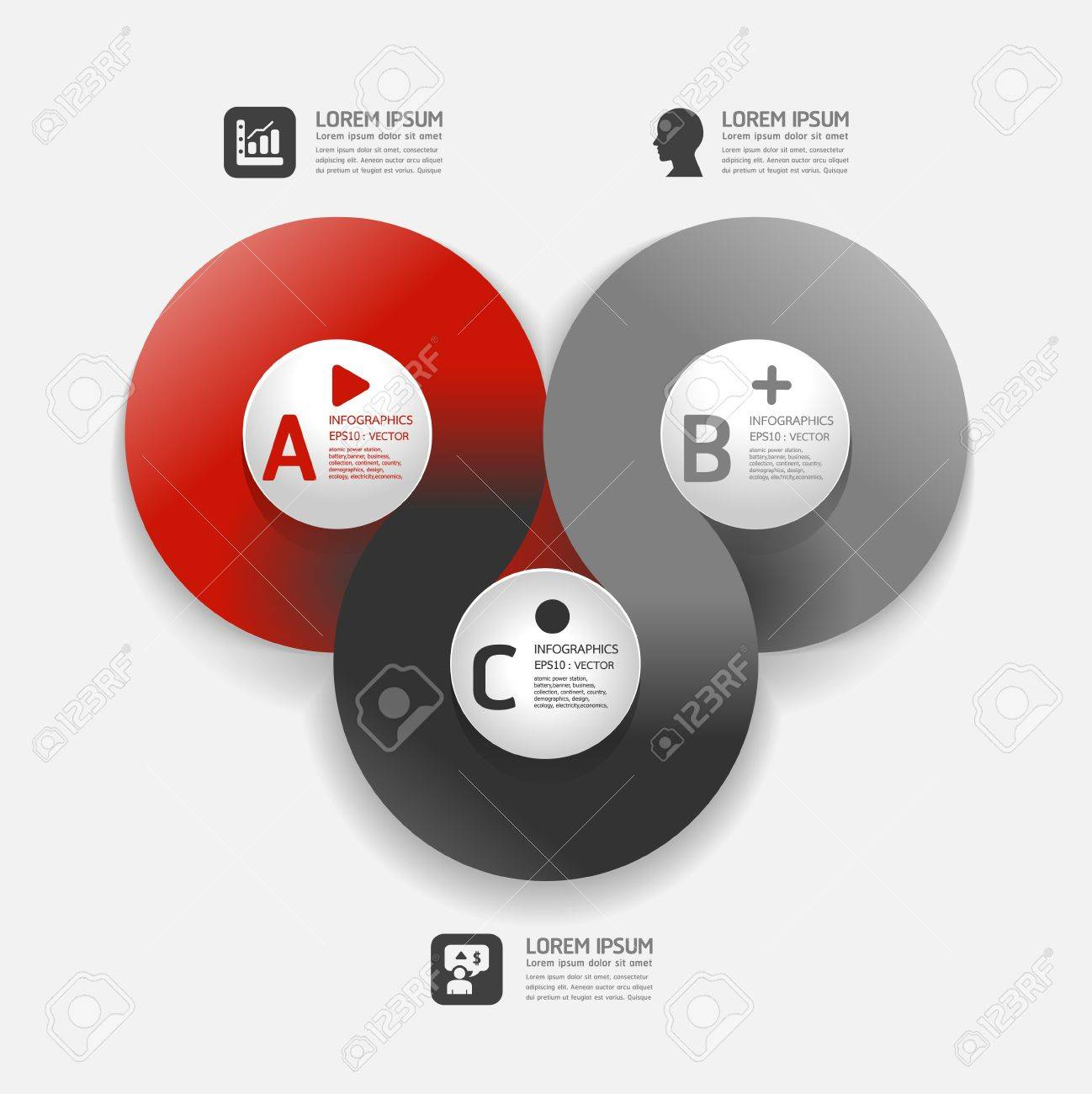 Modern Design template can be used for infographics numbered banners horizontal cutout lines graphic or website layout vector - 20138459