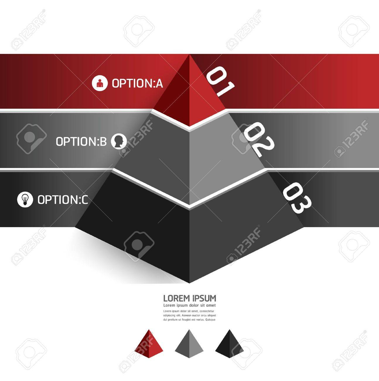 Modern Design Template Pyramid Style Can Be Used For Infographics ...