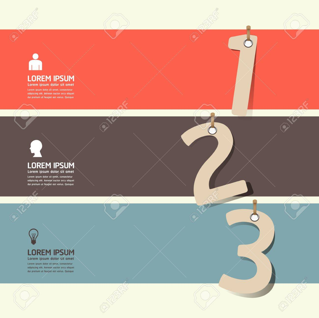 Modern Design template paper tag style  can be used for infographics   numbered banners   horizontal cutout lines   graphic or website layout vector Stock Vector - 20138403