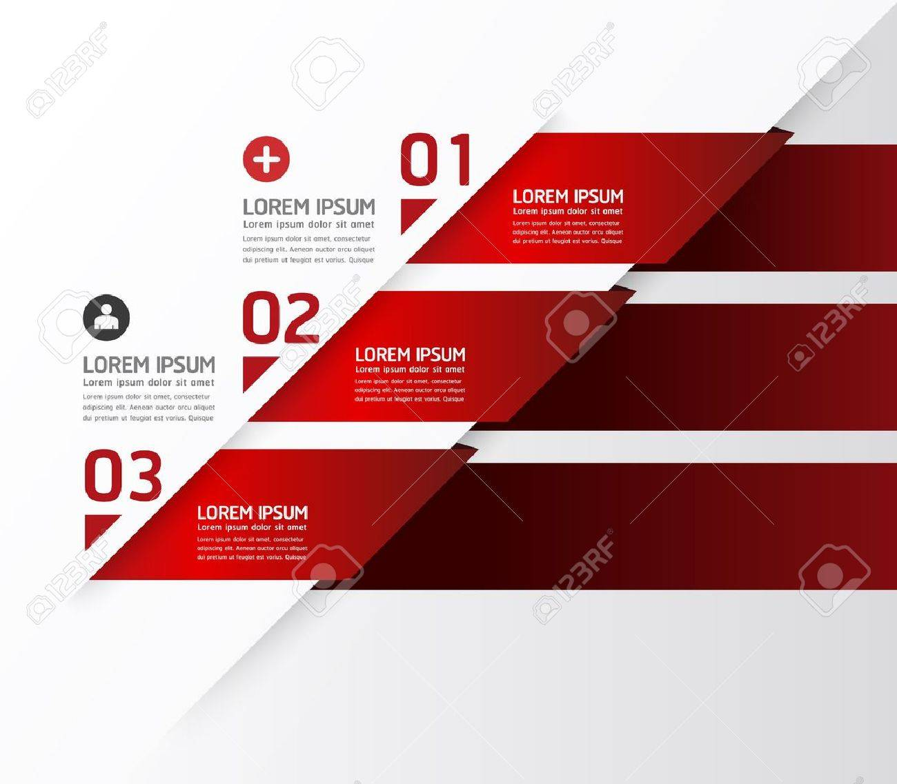 Modern Design template / can be used for infographics / numbered banners / horizontal cutout lines / graphic or website layout Stock Vector - 20753705