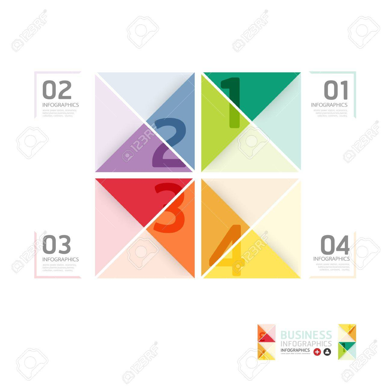Abstract infographic Design Minimal  style  template / can be used for infographics / numbered banners / horizontal cutout lines / graphic or website layout vector Stock Vector - 20988449